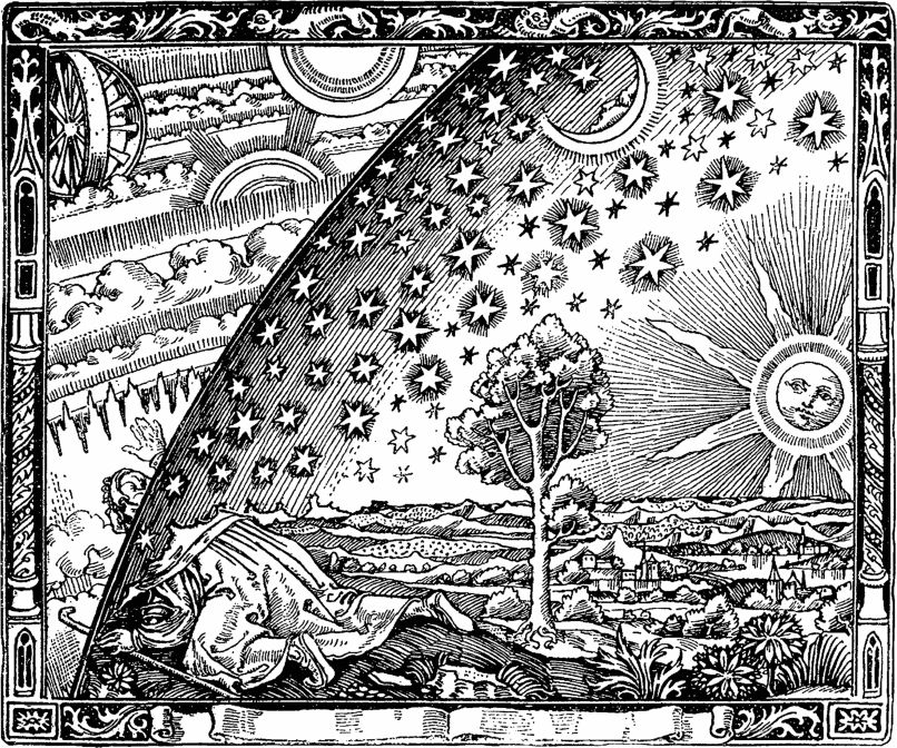 Flammarion Engraving Black and White