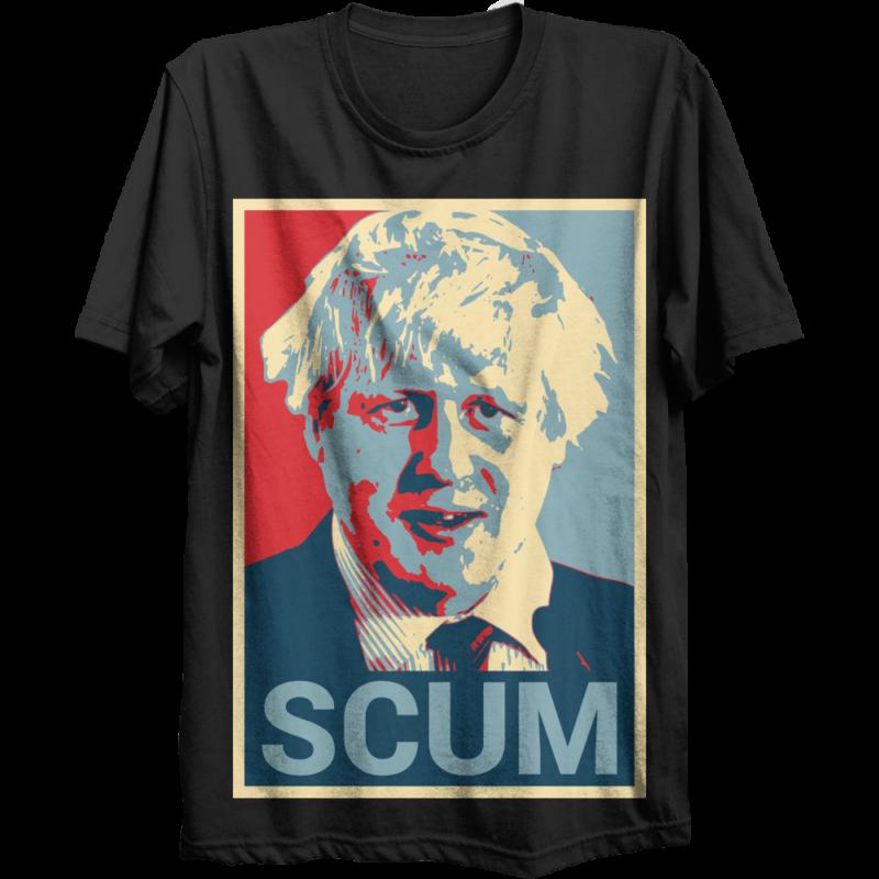 Camisetas molonas - Página 13 Boris-johnson-tory-scum-t-shirt-800x800