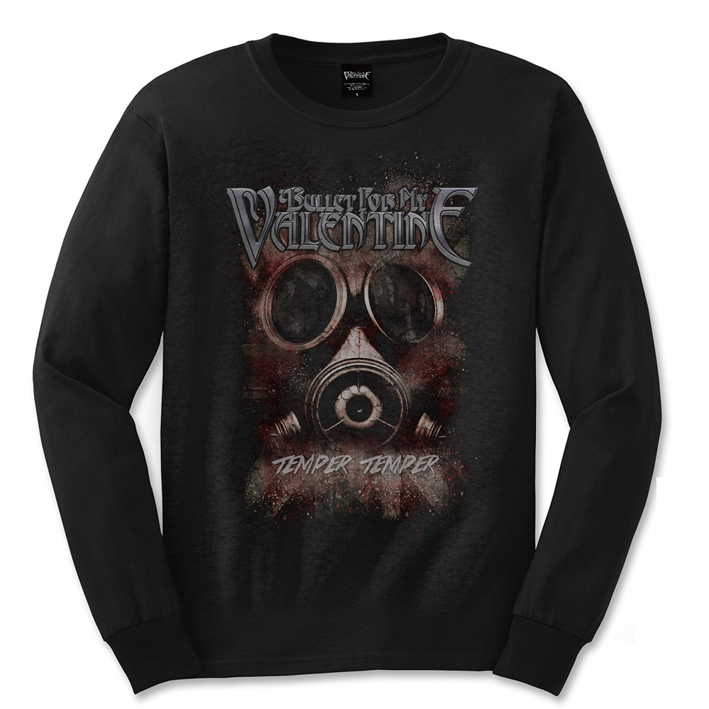 Bullet For My Valentine Long Sleeved Temper Temper Gas Mask T Shirt