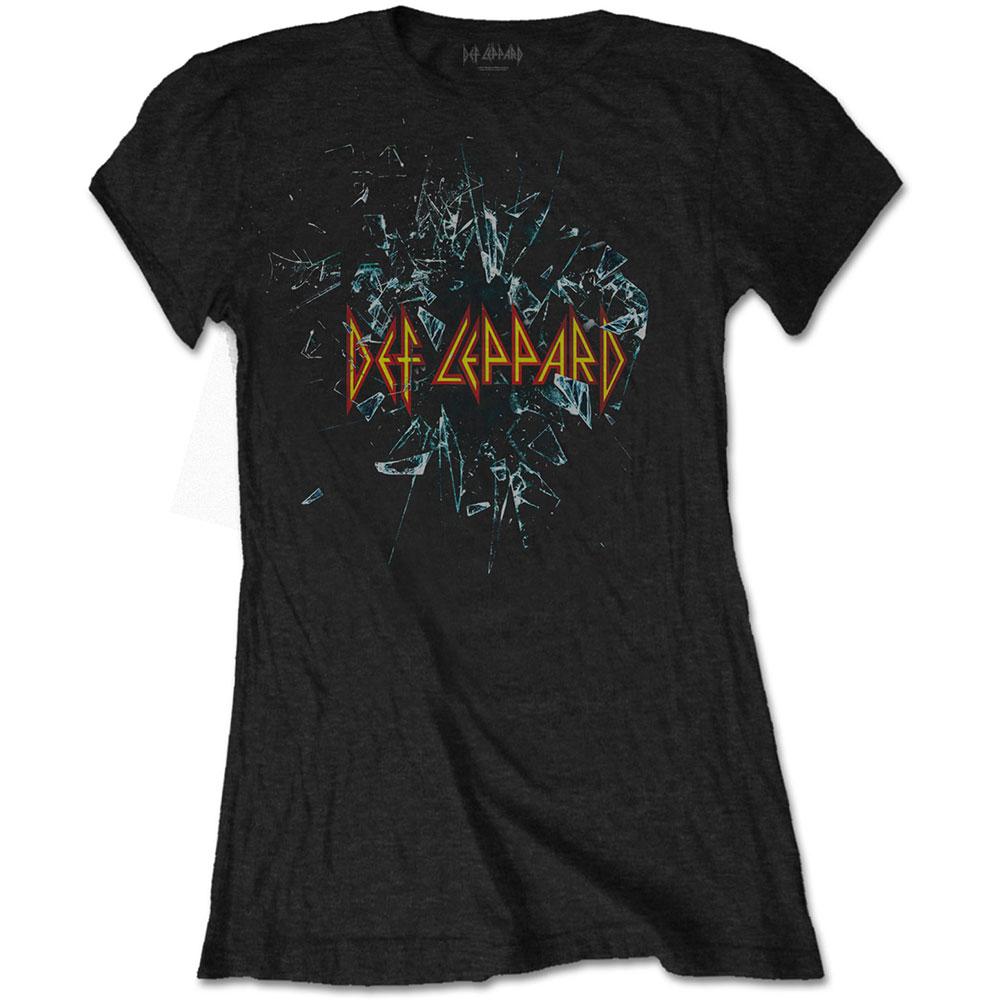 0081b4ef981c80 Def Leppard Ladies Shatter T-Shirt - PUNX.UK