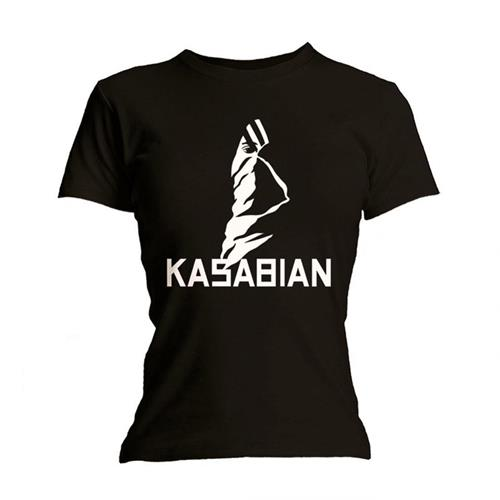 Kasabian Ladies T-Shirt Ultra Black with Skinny Fitting