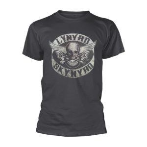 Lynyrd Skynyrd T Shirt Biker Patch Officially Licensed Mens Grey Classic Rock
