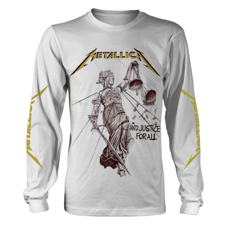 f434c7331d Metallica And Justice For All (white) Long Sleeved T-Shirt