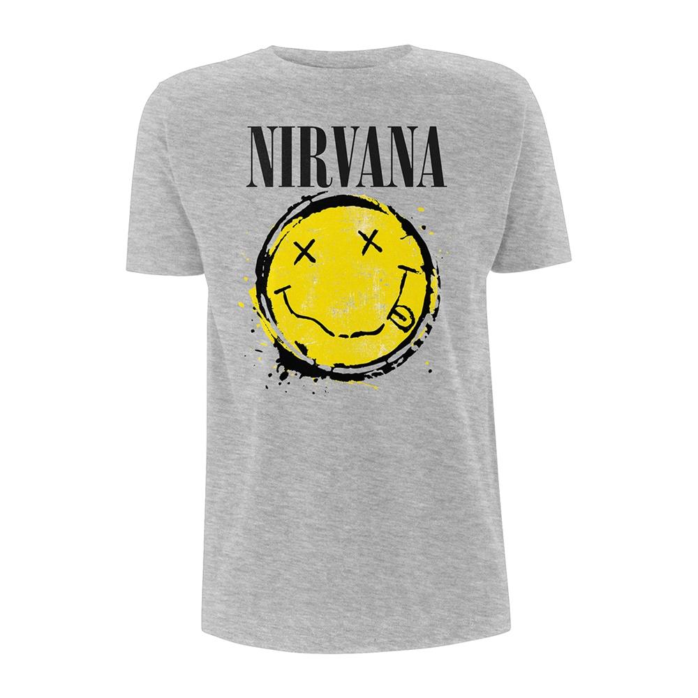 616701f8 Nirvana Smiley Splat T-Shirt - PUNX.UK