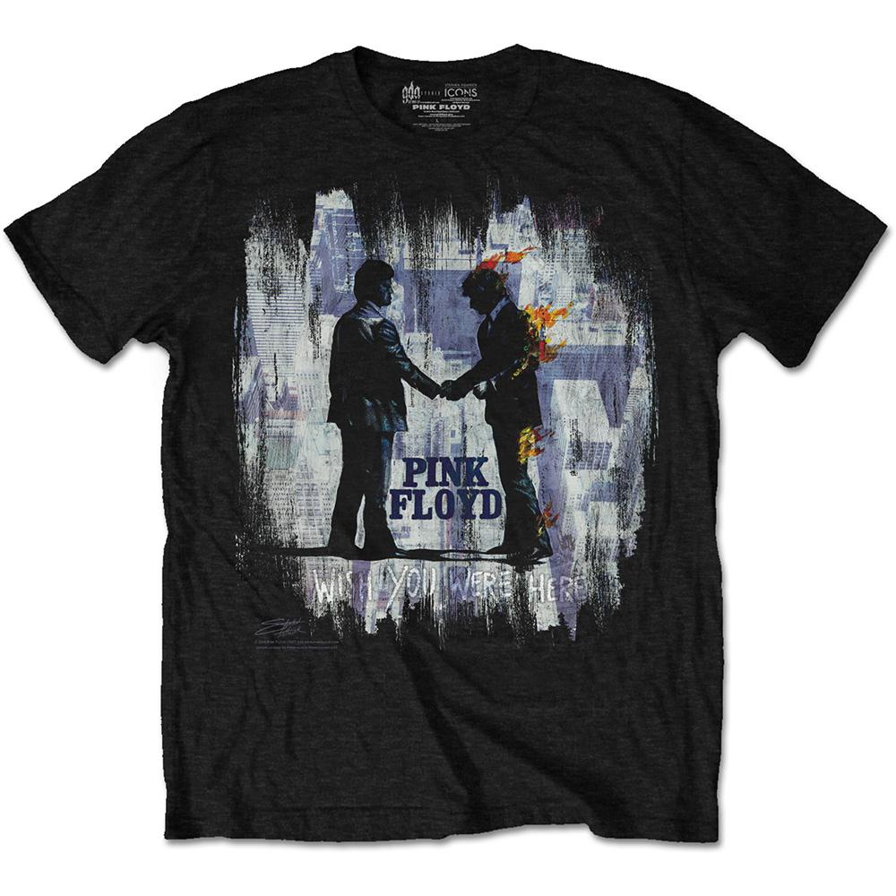 d98545fdfd4b Pink Floyd Wish You Were Here Painting T-Shirt - PUNX.UK