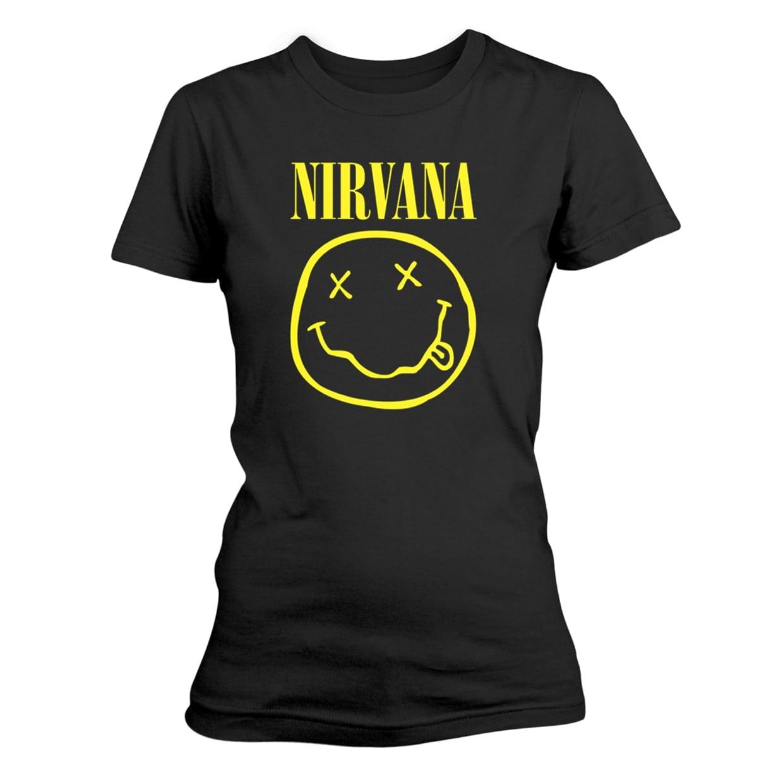 61f9112e06a0 Nirvana Smiley Logo Ladies T-Shirt - PUNX.UK