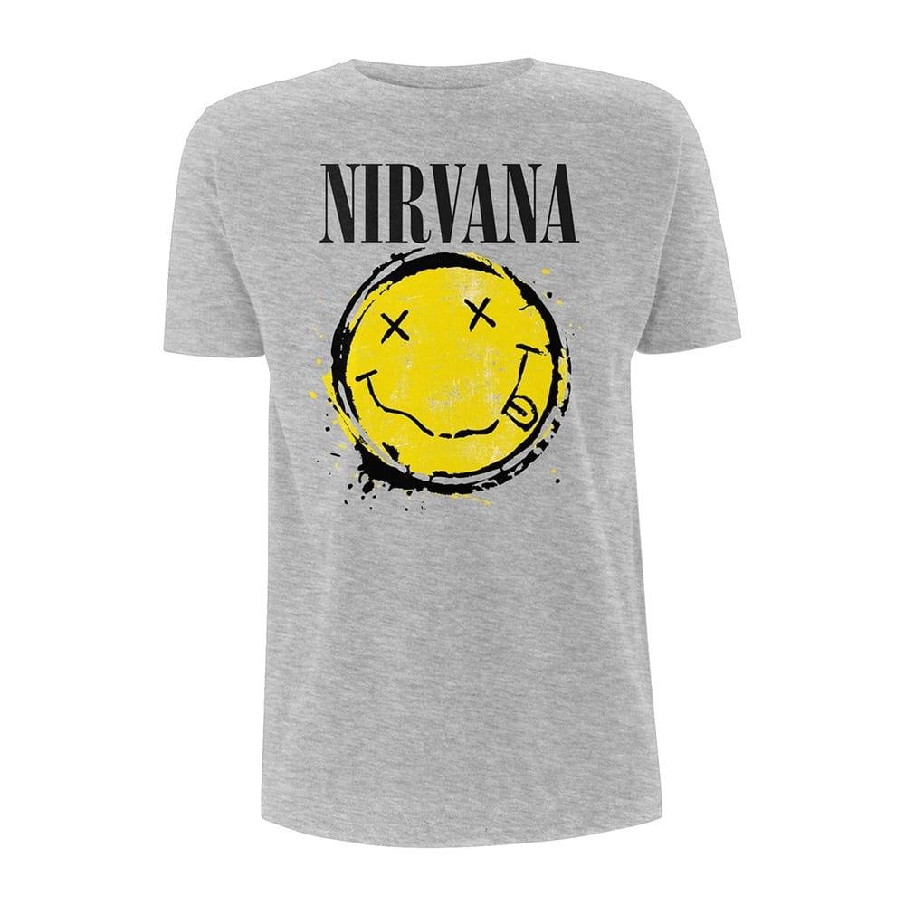 803632d4171b Nirvana Smiley Splat T-Shirt - PUNX.UK