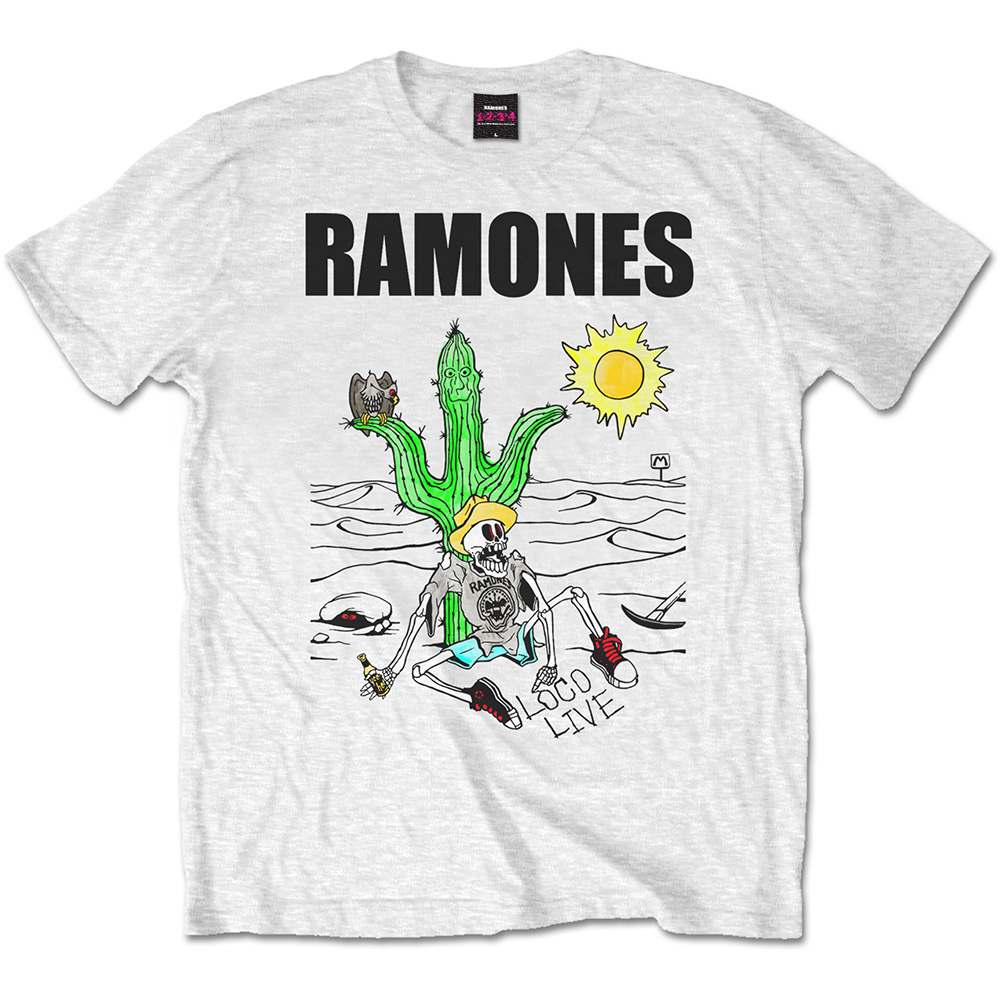 6add0c9d Ramones Men's Tee: Loco Live - PUNX.UK
