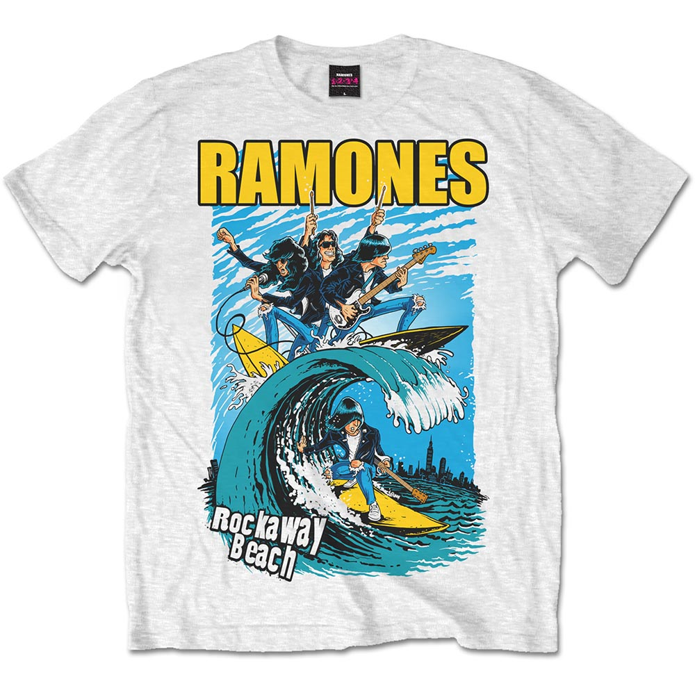 c82f88aa Ramones Men's Vest Tee: Rockaway Beach - PUNX.UK